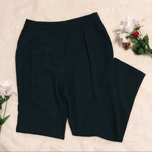 Dark green work pants
